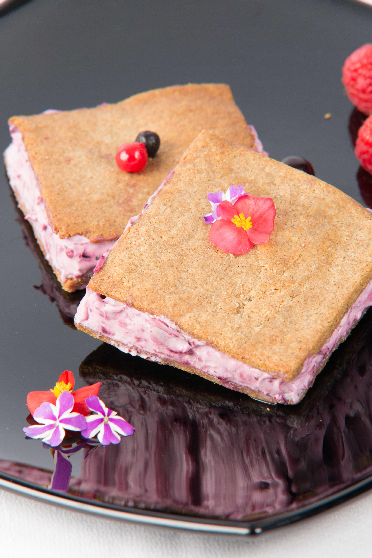 Sandwich de Mousse de Arándanos bajo en carbohidratos