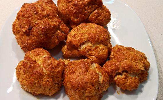 Así queda terminada la receta de coliflor al horno sin carbohidratos