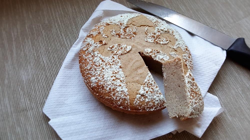 Tarta elaborada con harina de almendras