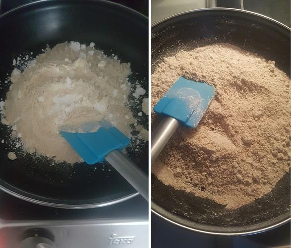 Dorar el gluten, la harina de coco y el fiberfin