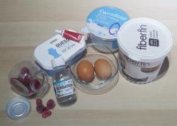 Ingredientes receta lowcarb Brownie relleno de cheesecake