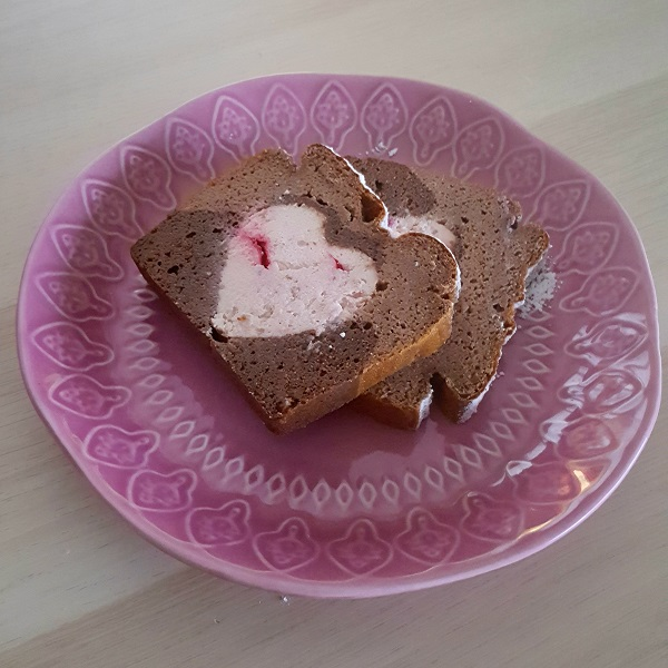Rebanadas de brownie relleno de cheesecake