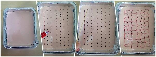 Proceso de elaboración decorado cheesecake